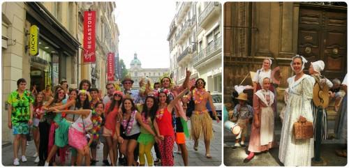 Festa per strada a Marseille e Festa popolare ad Aix.