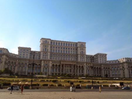 Il palazzo del Parlamento.
