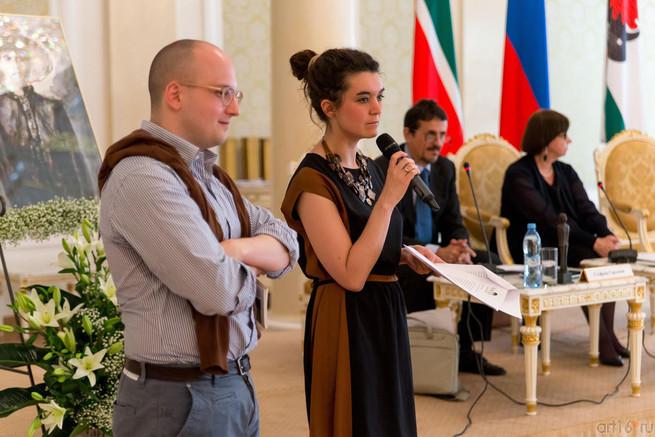 Giulia Rusconi, vincitrice della sezione italiana dell'edizione 2013-2014 del Premio, alla cerimonia di premiazione