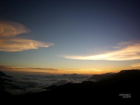 Tramonto sulla Sierra Sur.