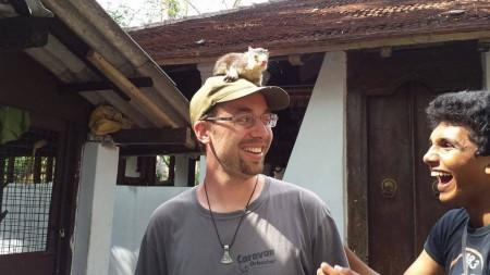 Luca e lo scoiattolo gigante dello Sri Lanka