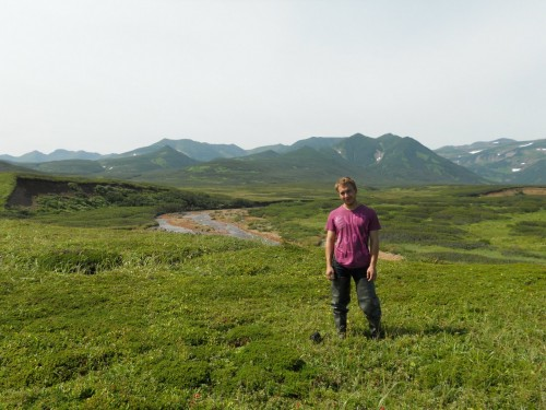Viktor in Kamchatka, his homeland