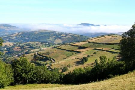 Paesaggio da O Cebreiro, a 1300m di altezza.