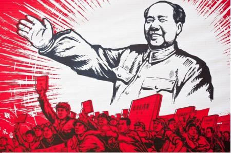 Una tipica immagine propagandistica del Libretto Rosso.