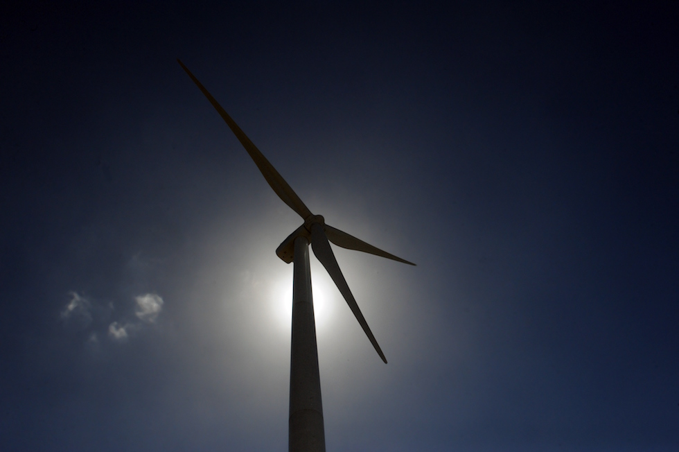 Una pala eolica a Tarariras, a 180 chilometri ovest di Montevideo, Uruguay (MIGUEL ROJO/AFP/Getty Images)