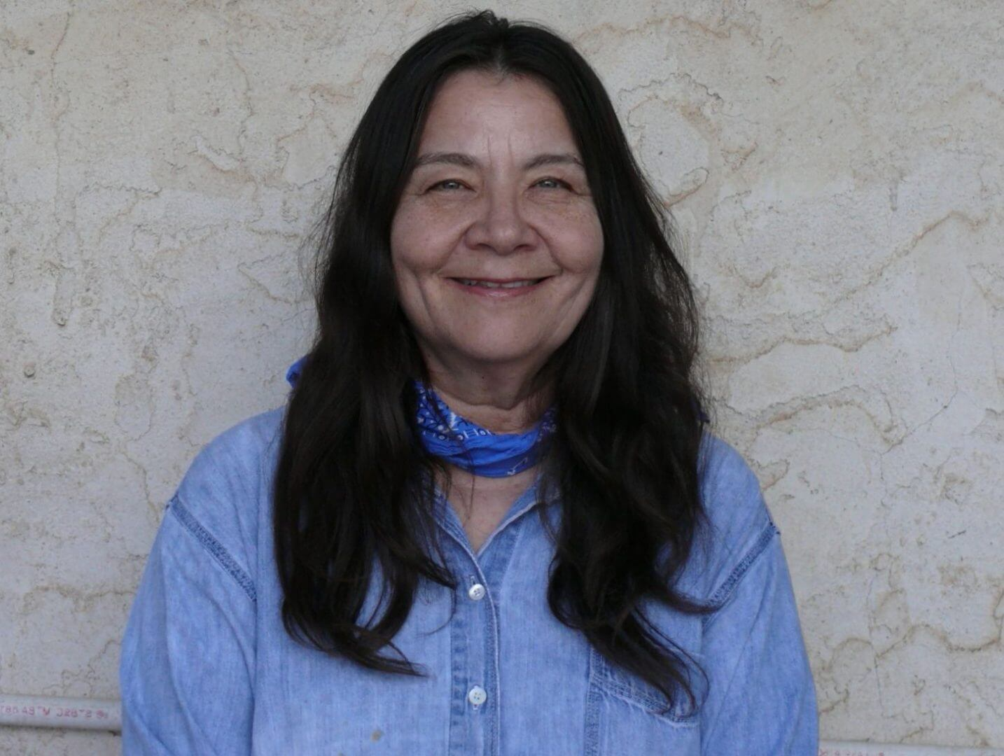Laguna Indian writer Leslie Marmon Silko (born 1948)