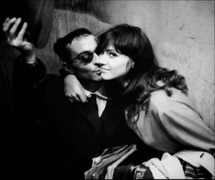 Anna Karina, ospite d'onore di BFM 2016, e il regista Jean-Luc Godard