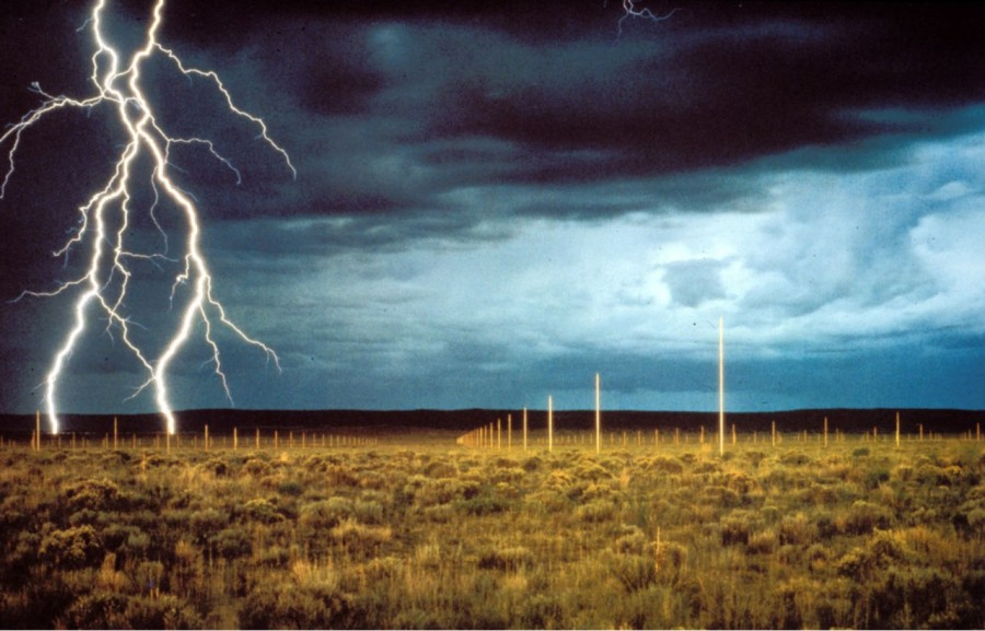 "Walter de Maria, ""The Lightning Field"", Catron County (New Mexico), 1977"