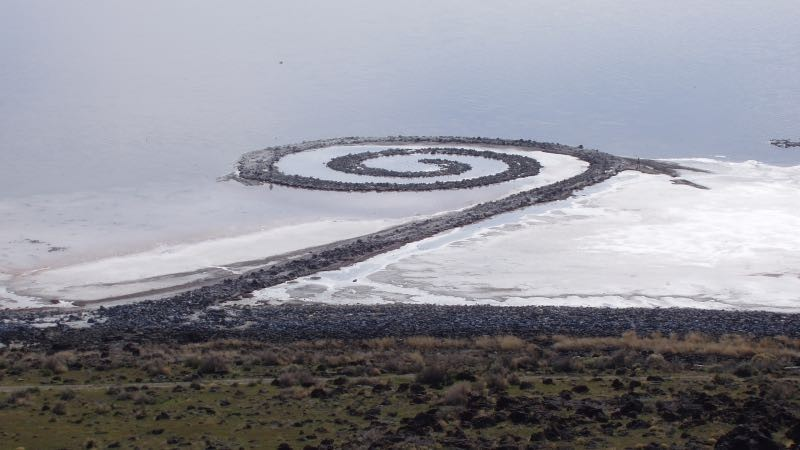 "Robert Smithson, ""The Spiral Jetty"", Great Lake, 1970"