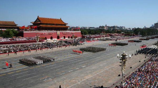Foot Formation parade-Xinhua