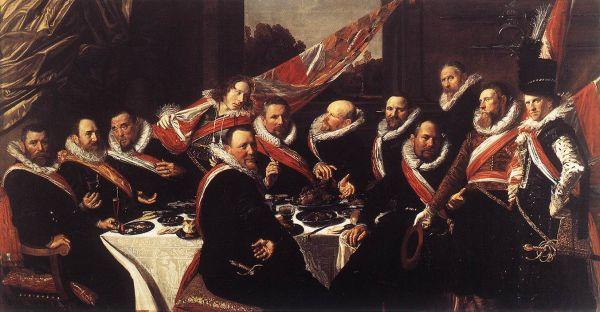 Frans Hals, Il banchetto degli ufficiali della Guardia Civica di San Giorgio (1616)