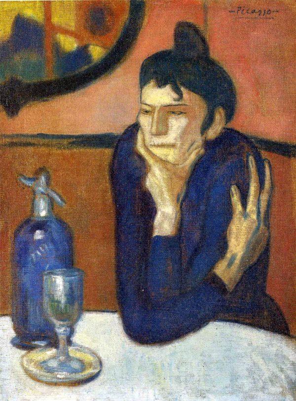 Pablo Picasso, La bevitrice di assenzio (1901)